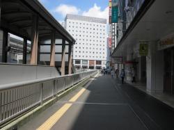 JR立川駅方面への通路